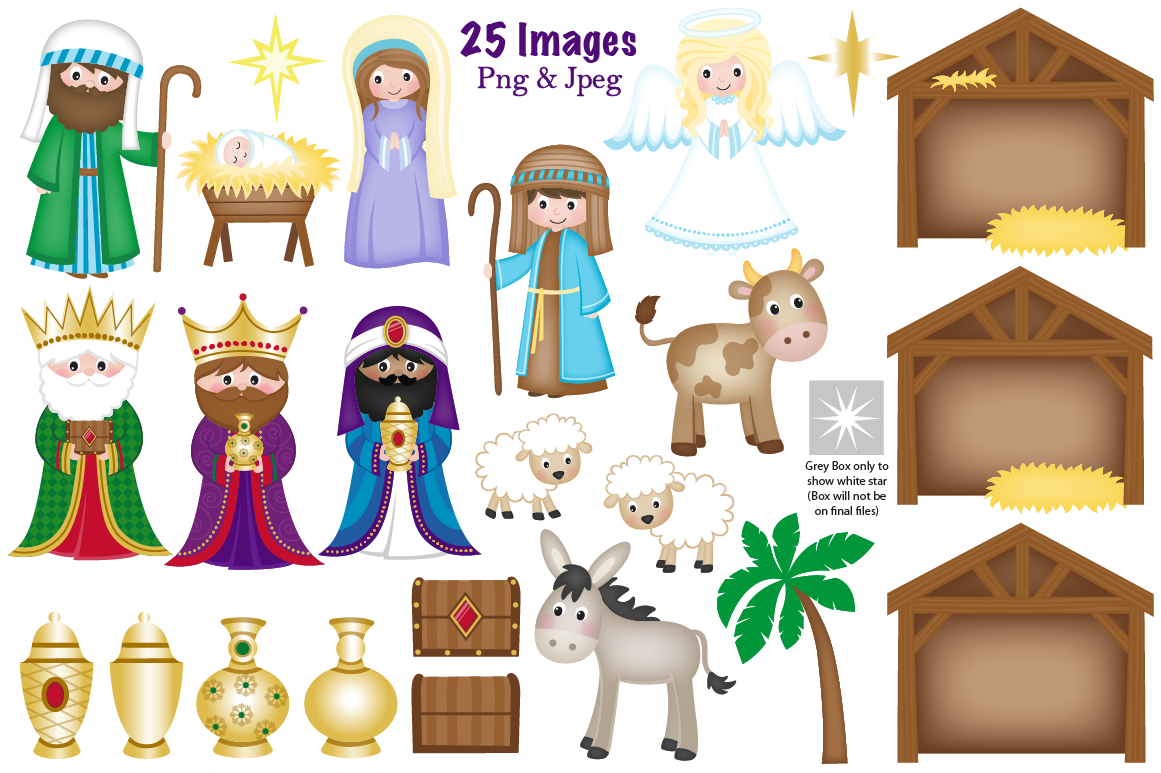 Nativity figures. Download for free png