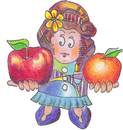 Drawing apple colored pencil. Apples oranges the difference