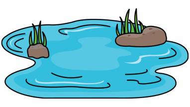 How to a pond. Cane drawing draw vector library