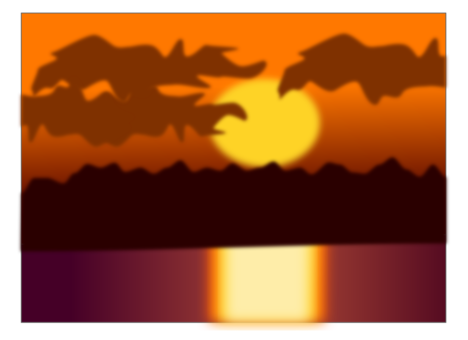 Natural drawing sunset. Collection of free download