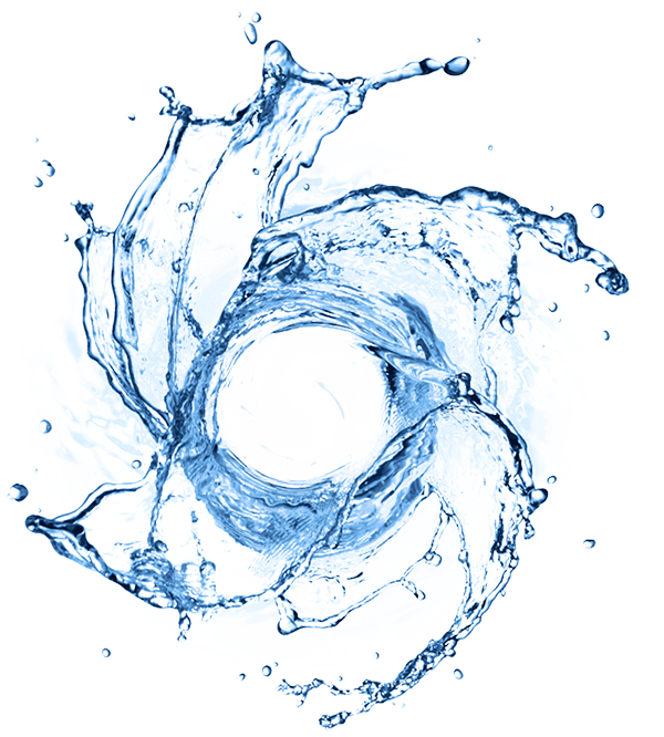 Vortex drawing blue water. About natural action technologies