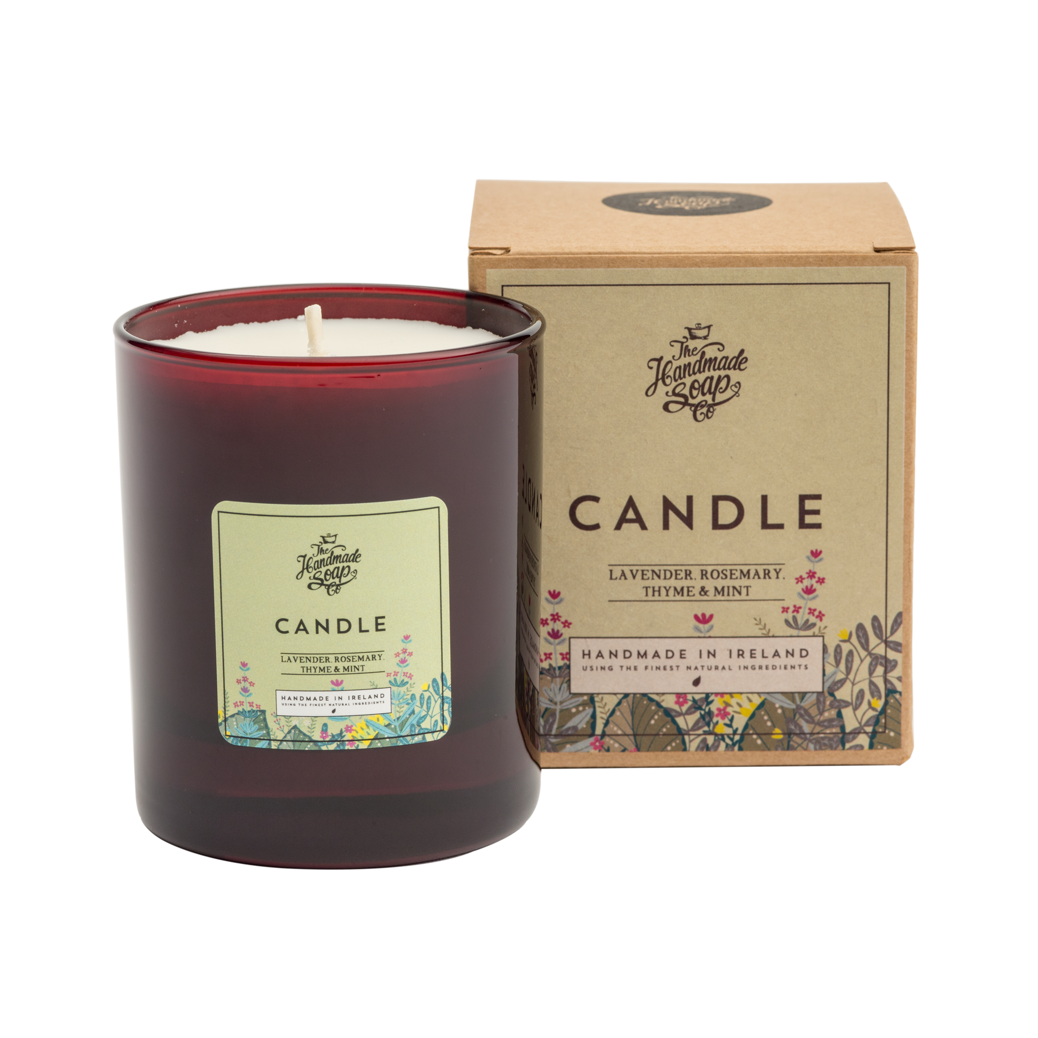 Natural soy wax candles png. Candle scented with lavender