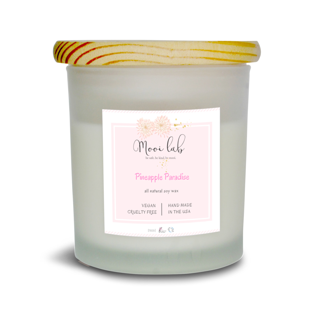 Natural soy wax candles png. Pineapple paradise candle mooi