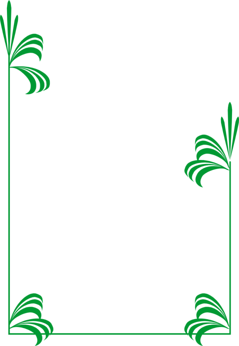 Nature border png. Green frame pic free