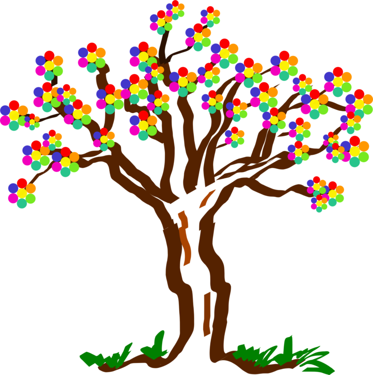 Tree computer icons art. Nature clipart birthday clipart stock
