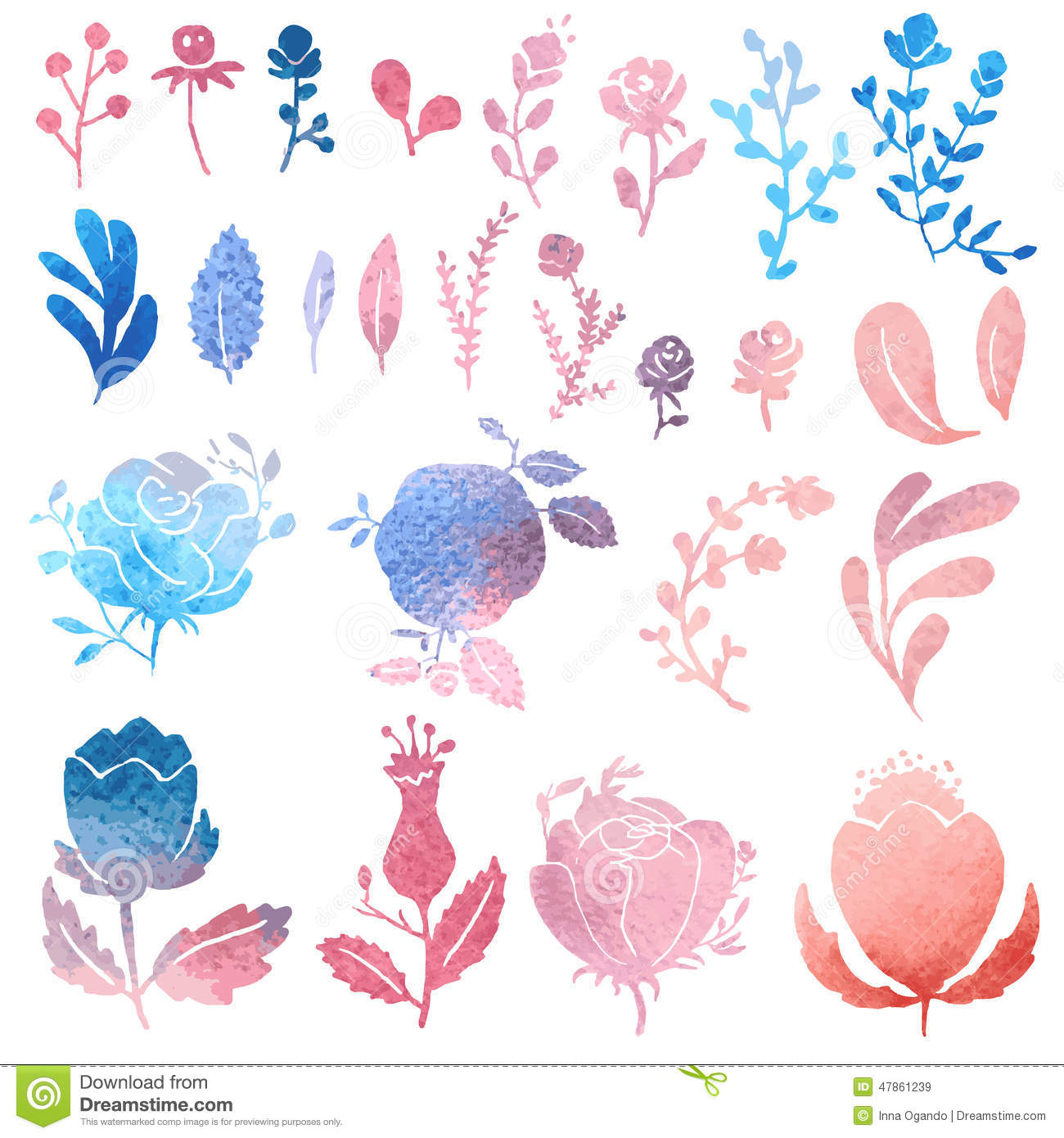 Watercolor clip art stock. Nature clipart birthday jpg library download