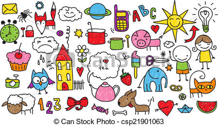 Children s collection of. Nature clipart doodle picture royalty free download