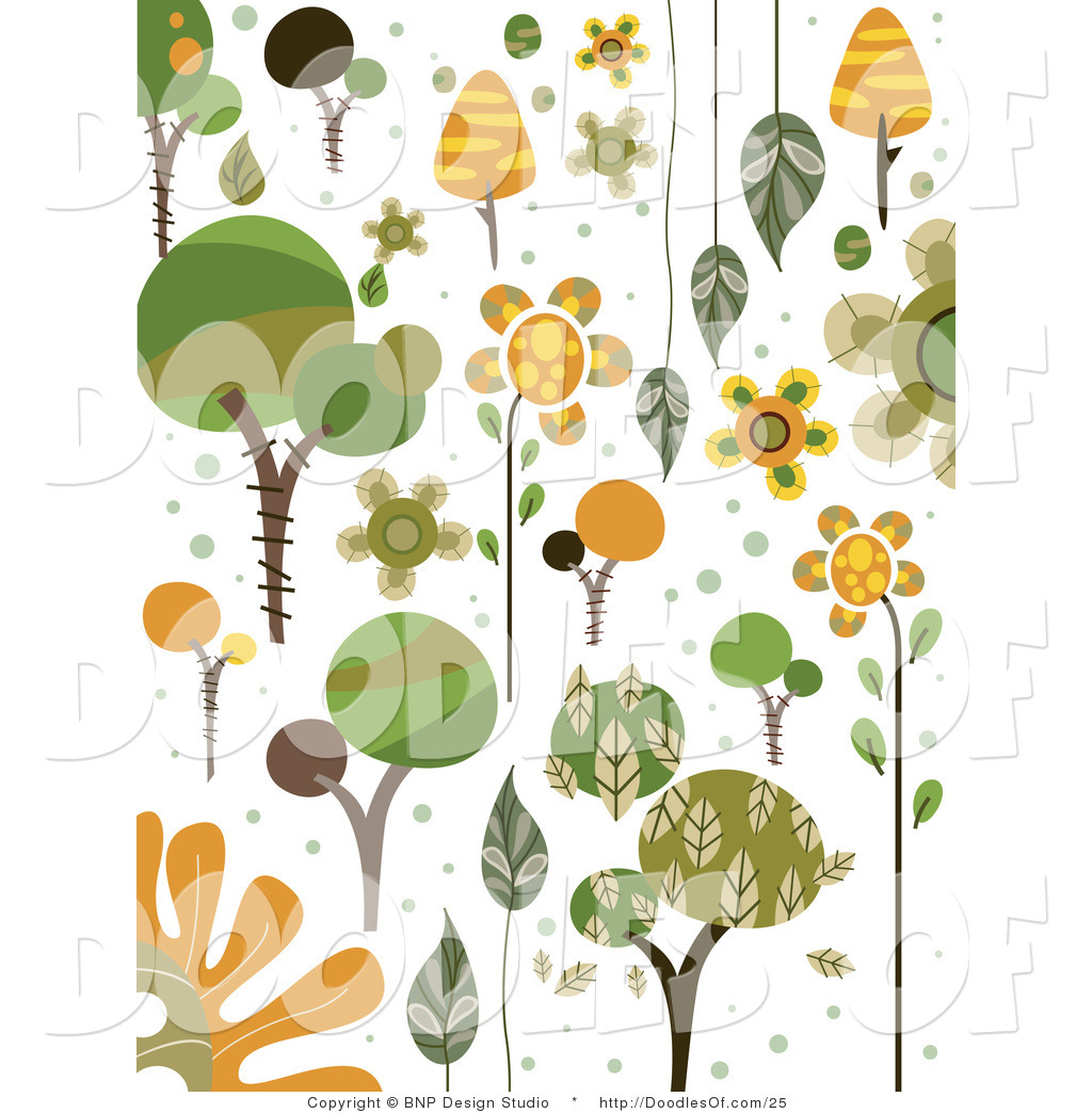 Vector of green and. Nature clipart doodle clip transparent stock