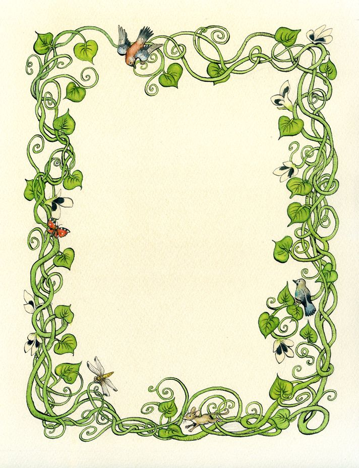 Nature clipart frame. Page borders google search