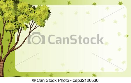 Nature clipart frame. Border with theme illustration picture free download
