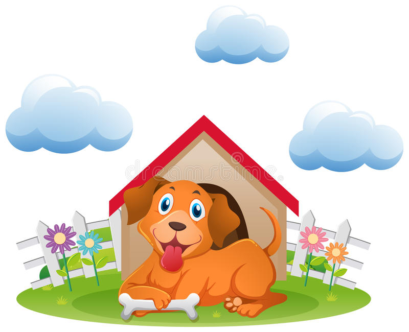 Cute dog at the. Nature clipart garden clipart royalty free stock