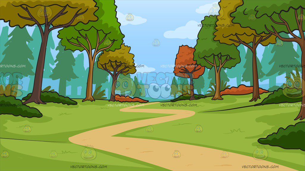 Woods clipart. Path leading to the clip download