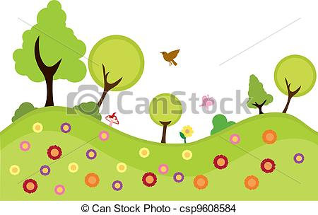 Environment plants background to. Nature clipart greenery vector freeuse stock