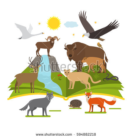 Book about national parks. Nature clipart park image black and white download