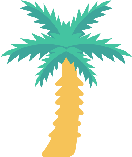 Coconut tree free icon. Nature clipart park svg black and white download
