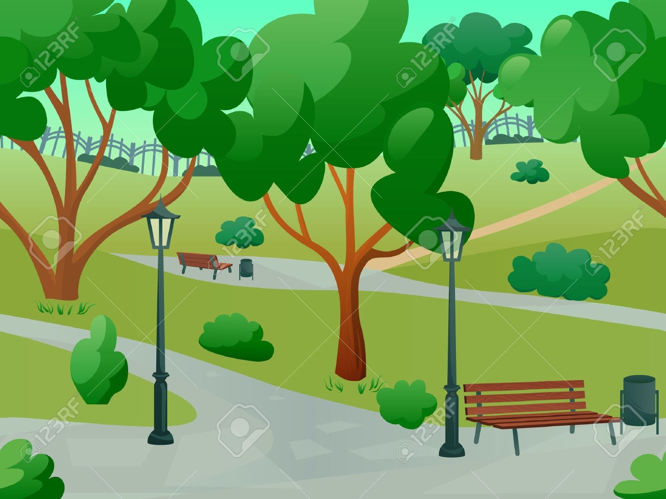 Nature clipart park. Best of design digital picture freeuse library