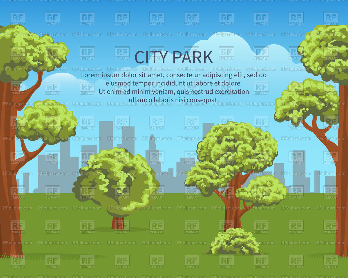 City poster vector image. Nature clipart park image library library