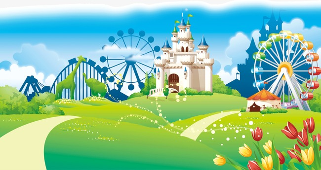 Nature clipart playground. Cartoon building png image