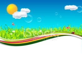 Spring clipart nature. Or summer background with