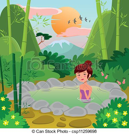 Natural girl in a. Nature clipart spring picture transparent download