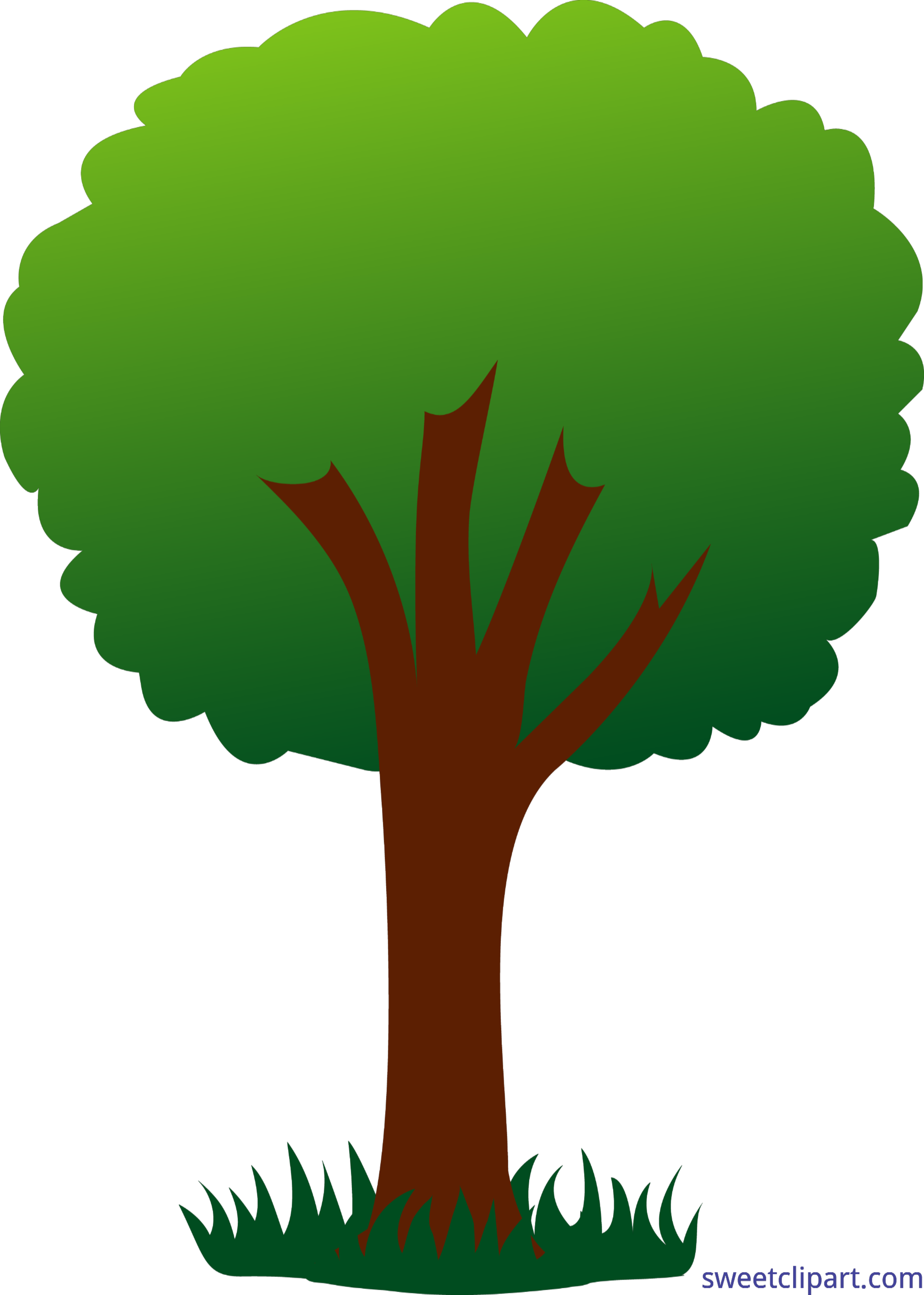 Nature clipart tree. Simple green clip art