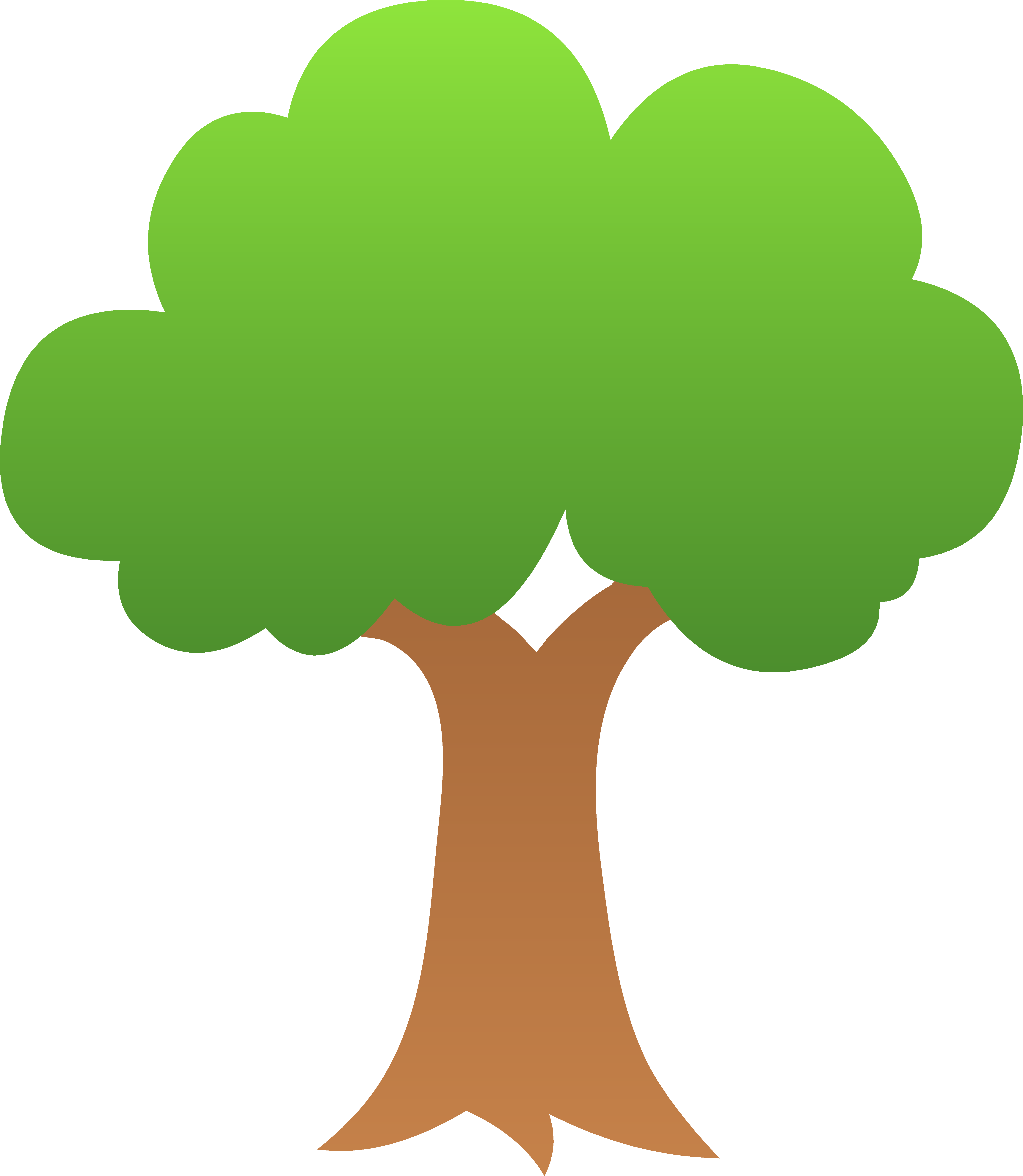 Nature clipart tree. Pencil and in color picture black and white
