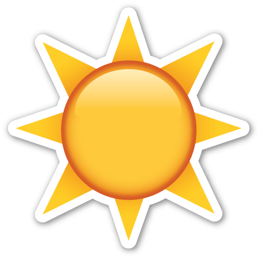 Nature emoji png. Black sun with rays