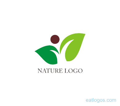 Nature logo png. Leaf with man download