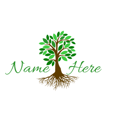 Nature logo png. Bright tree maker