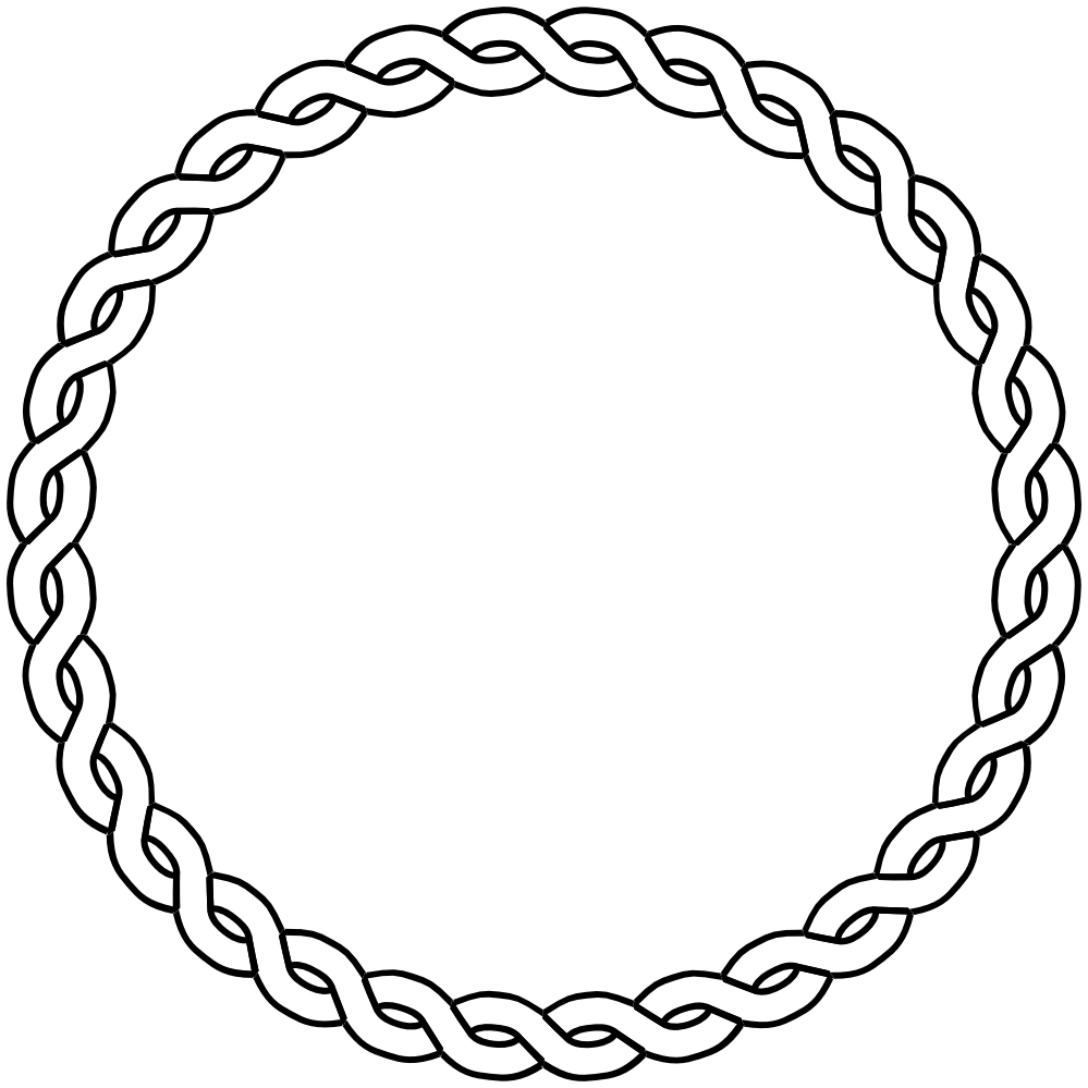 Nautical border png. Rope circle dna black