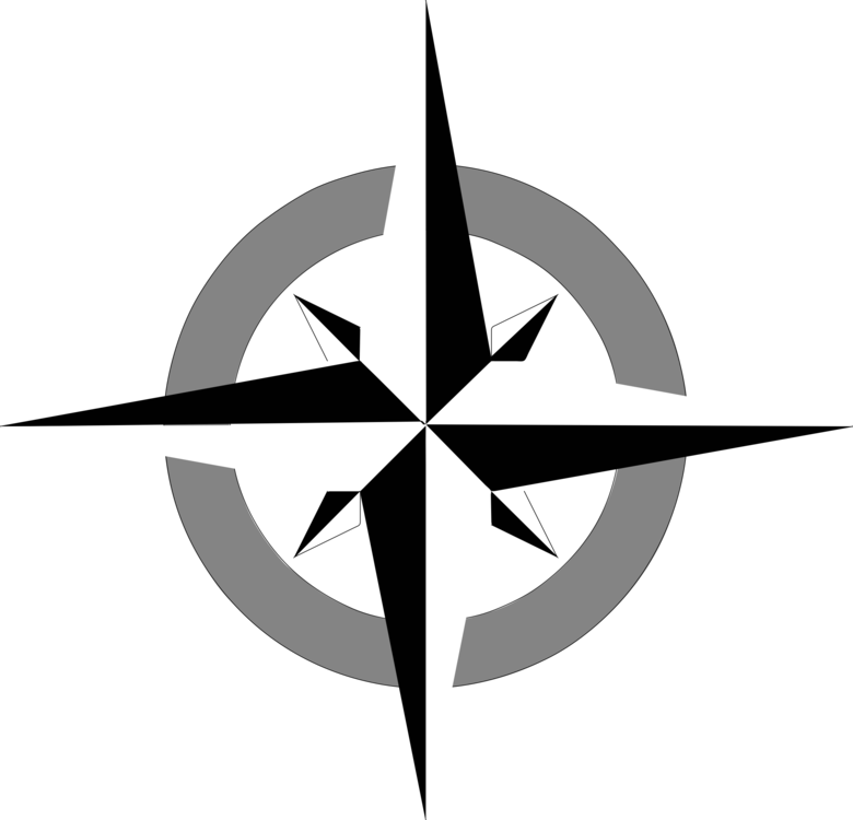 Compass rose wind free. Drawing north banner freeuse library