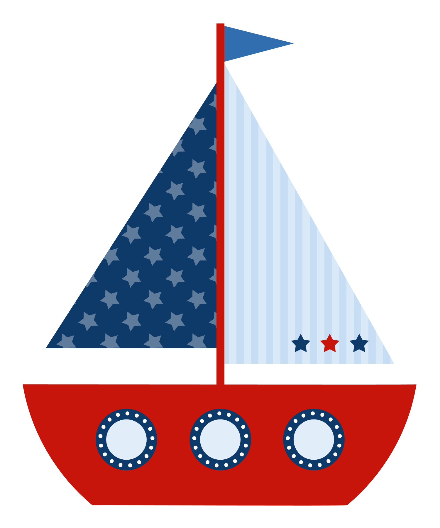 vector style nautical banner