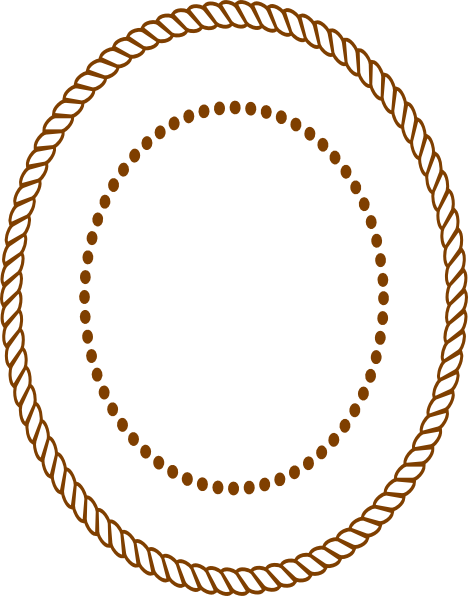 Drawing oval rope. Frame clip art border