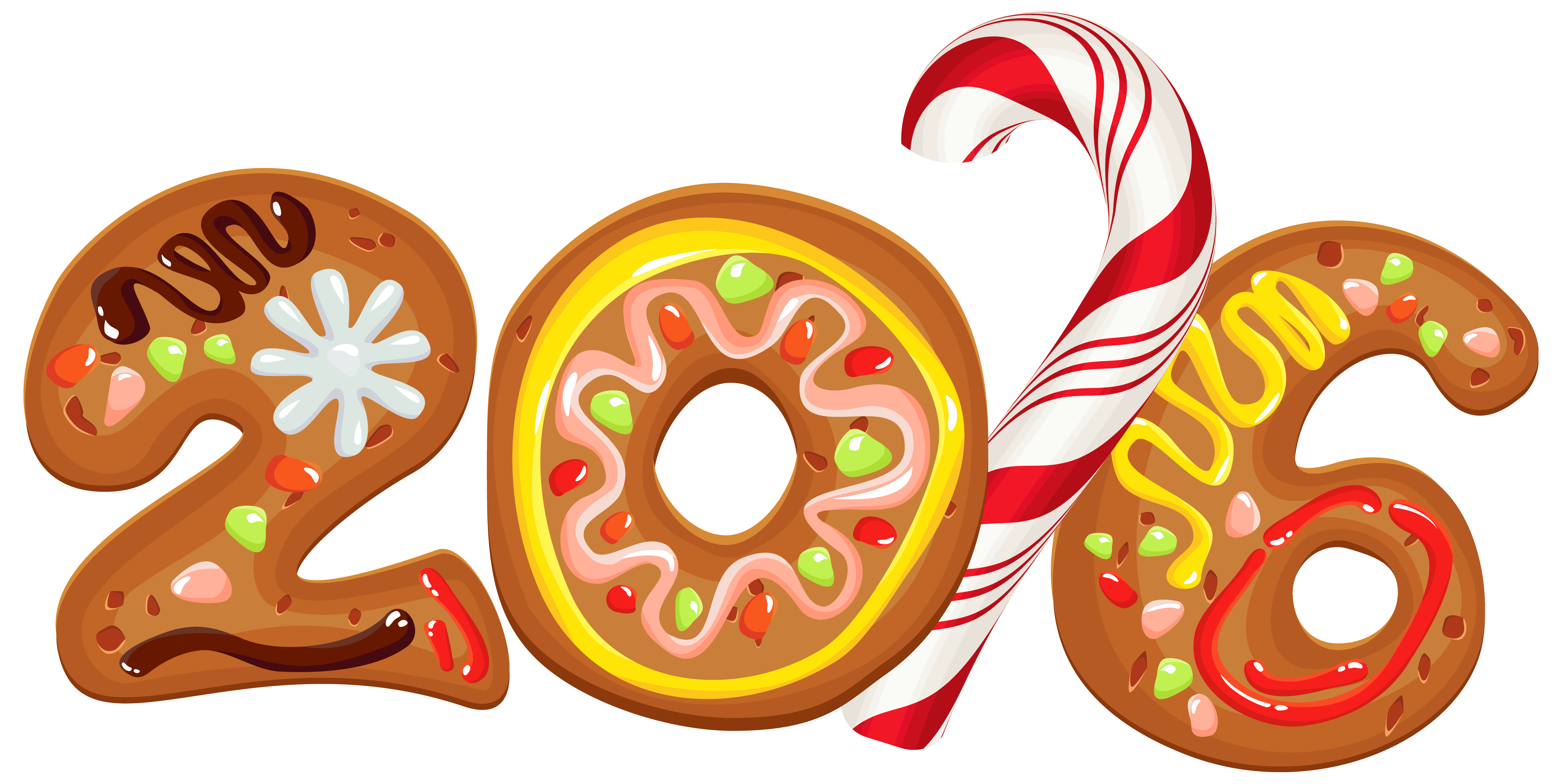 Navidad 2016 png. Cookie style clipart