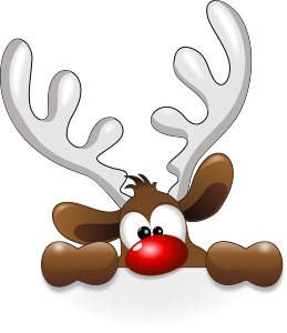 Rudolph vector christmas. Funny reindeer by cyberscooty