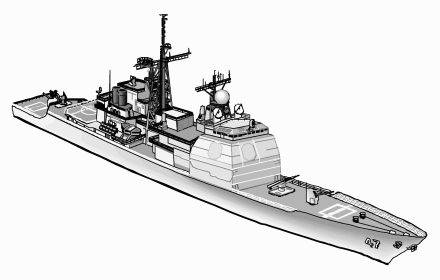 Navy clipart defence. Us cruiser