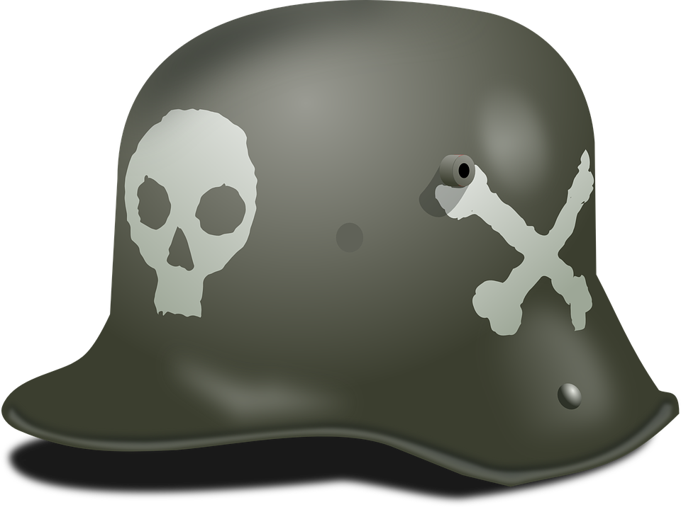 Nazi vector silhouette. Hat png images in