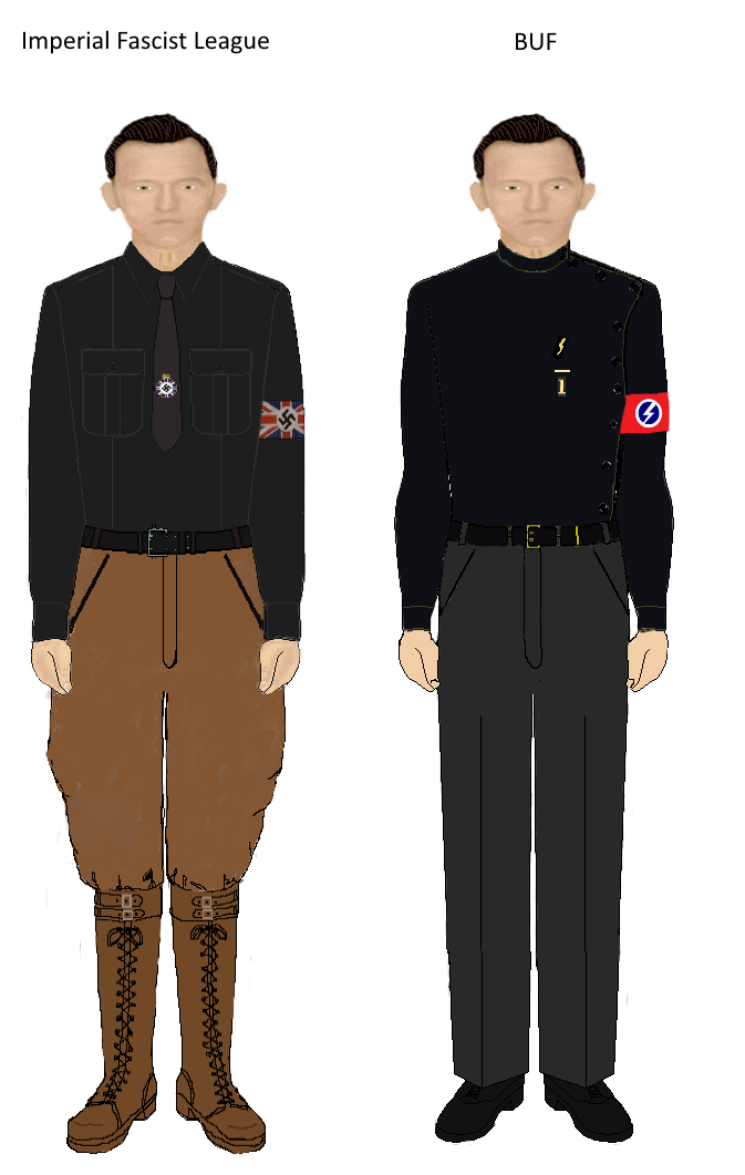 Nazi outfit png. Imperial fascist league and