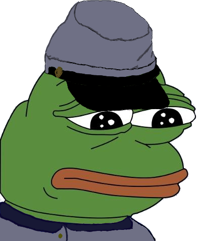 Nazi transparent pepe. Steam purged of emoticons