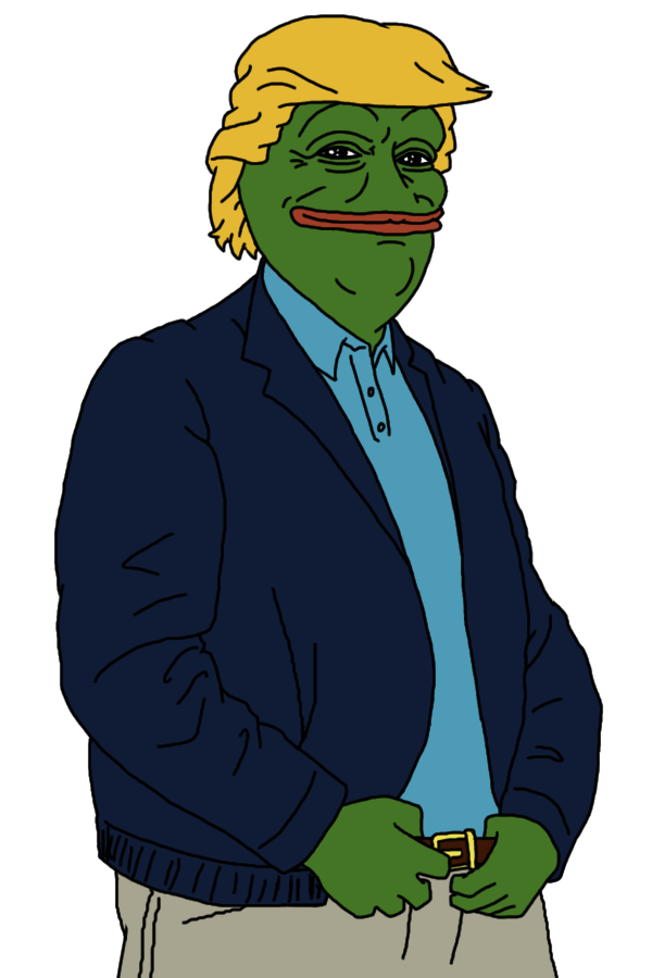 Nazi transparent pepe. The frog is now