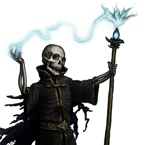 necromancer drawing undead mage