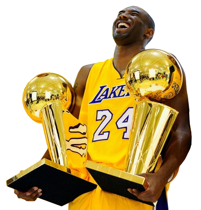 Nba championship trophy png. Kobe and the trophies
