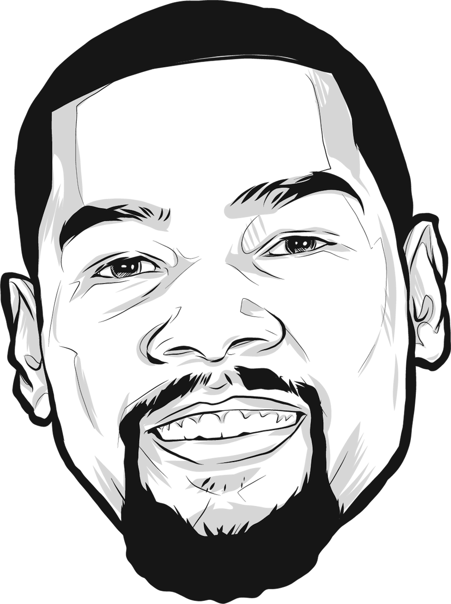 Nba drawing artwork. Kevin durant golden state