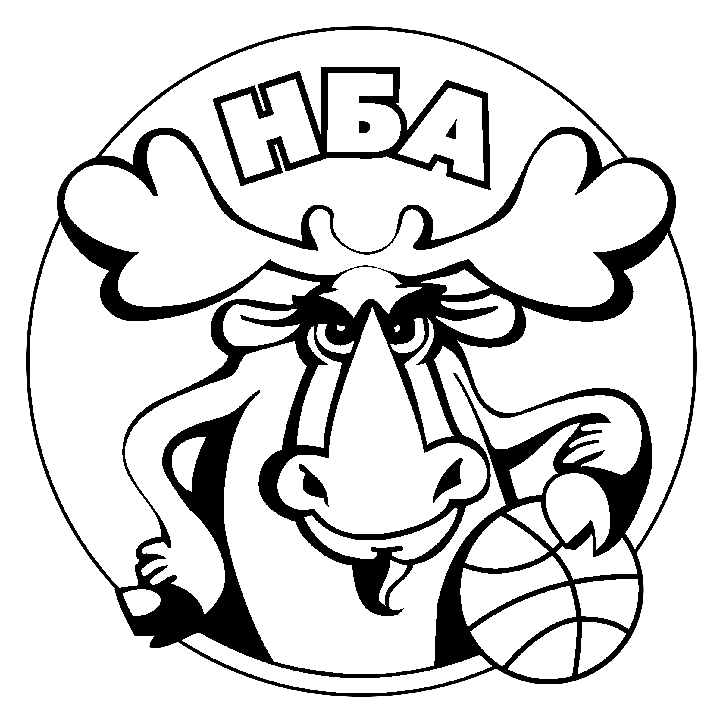 Nba drawing black and white. Logo png transparent svg