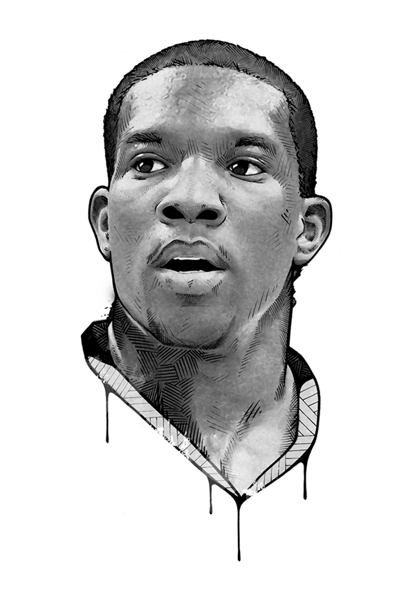 Portraits drawing famous. Espn magazine on behance