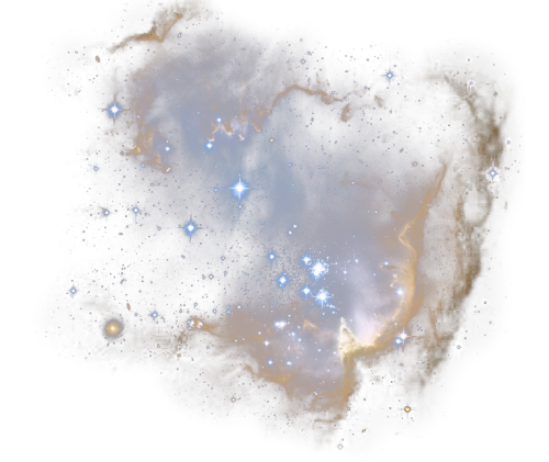 Mine queue space nebula. Universe transparent image freeuse