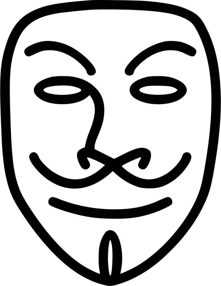 Neckbeard drawing v for vendetta. Svg png icon free