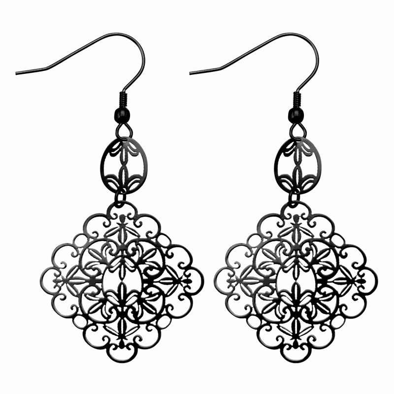 Necklace clipart ear ring. Awesome earrings black