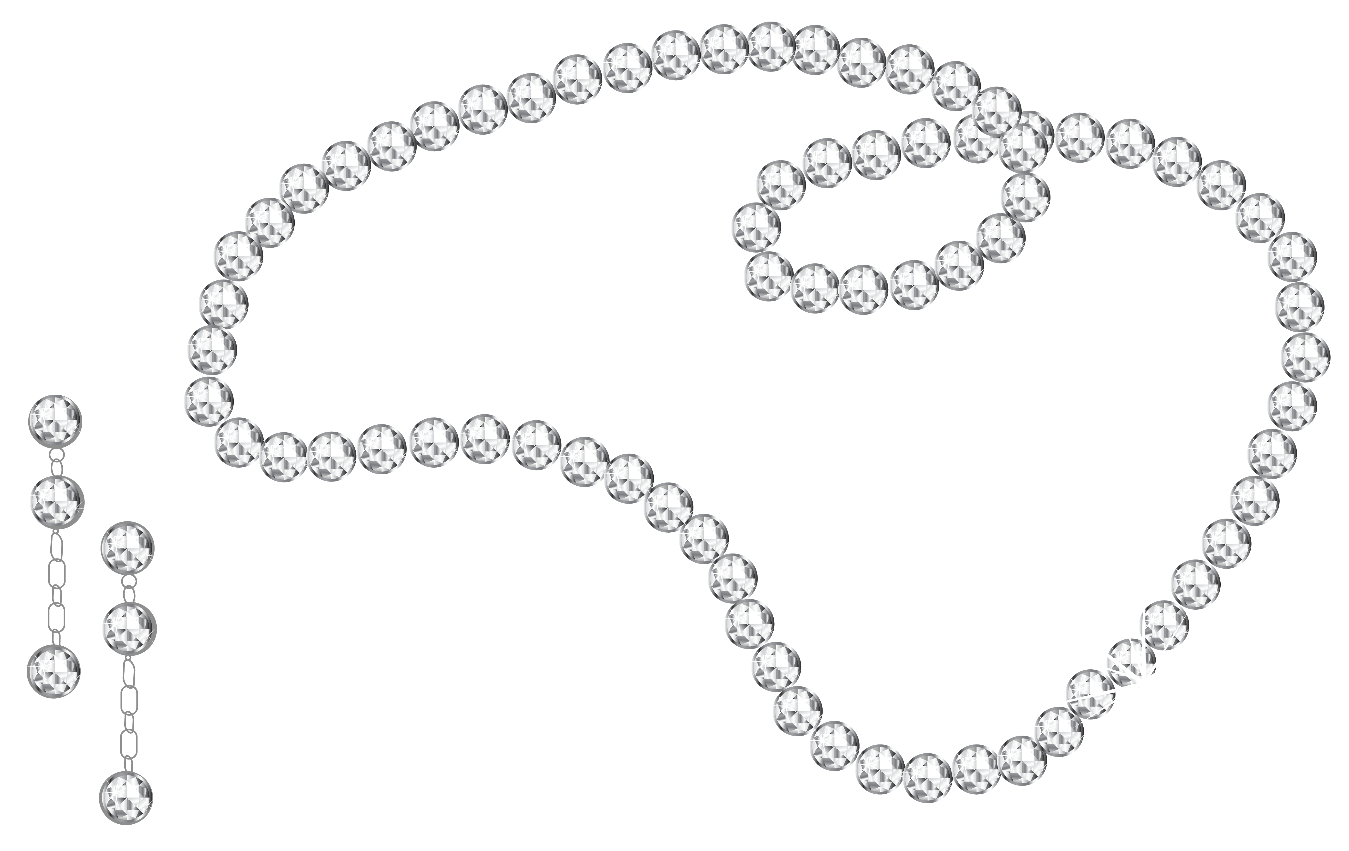 Necklace cartoon png. Diamond and earrings clipart