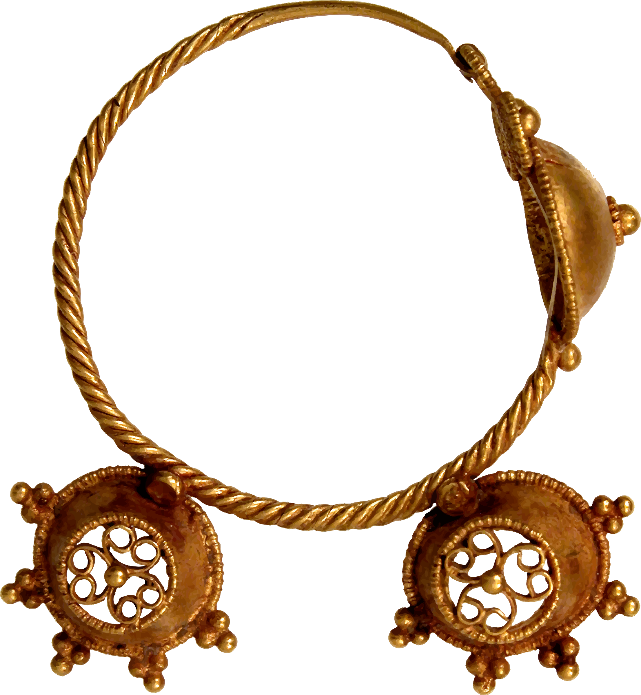Necklace clipart ear ring. Th century earring big